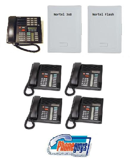 3X8DS with 1-M7310 4-M7208 Speakerphone and Startalk Flash Voice Mail