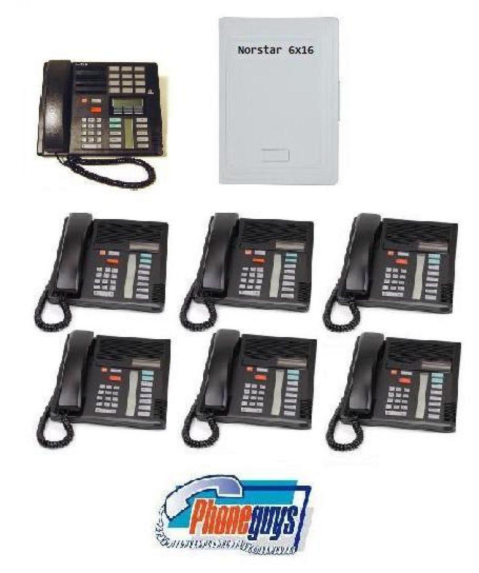 6x16 with 1-M7310 6-M7208 Speakerphones