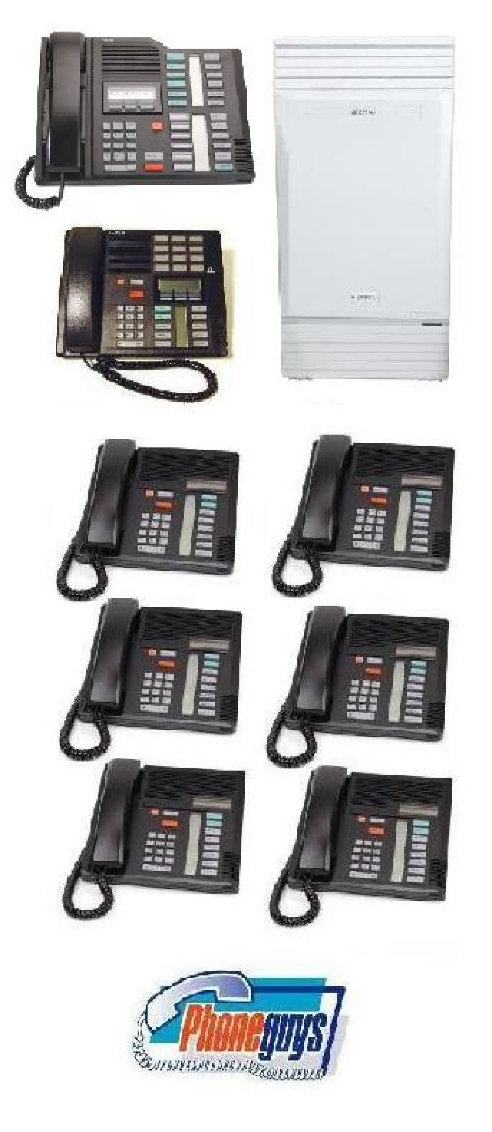 Modular ICS with 1-M7324 1-M7310 6-M7208 Phones
