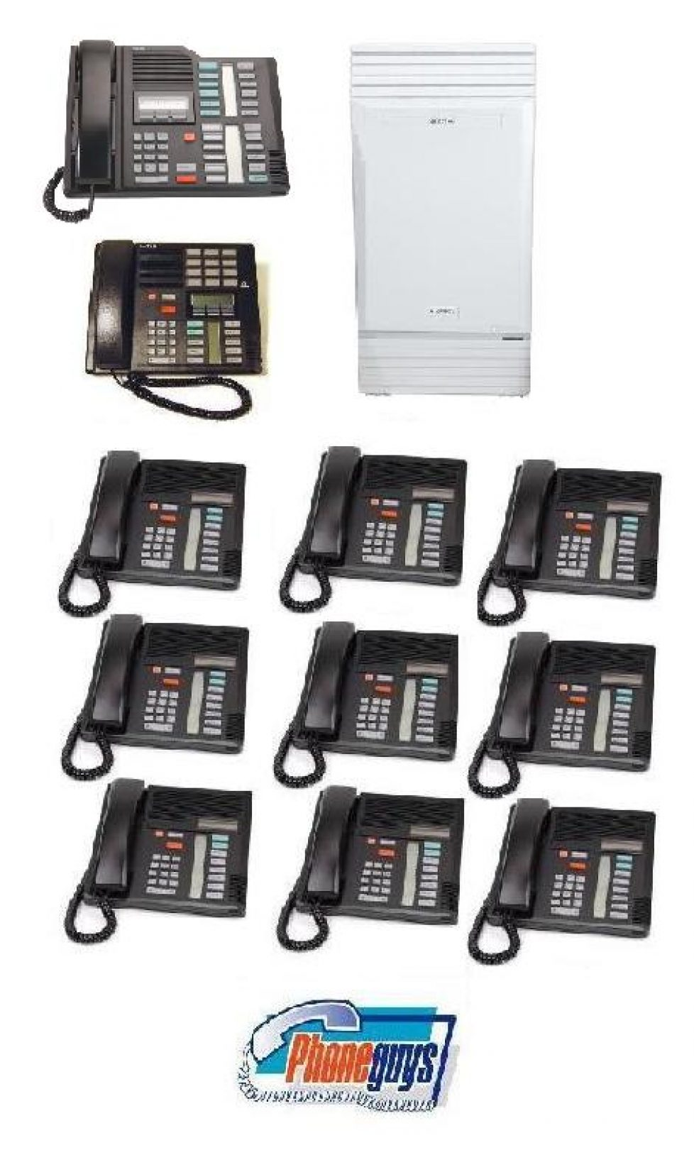 Modular ICS with 1-M7324 1-M7310 9-M7208 Phones