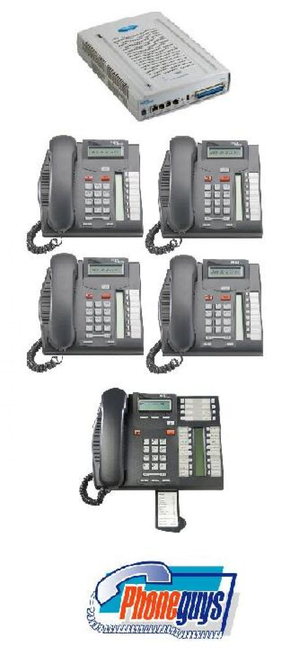 BCM50 VoIP Internet Phone System 1-T7316e 4-T7208 Phones & Voice Mail
