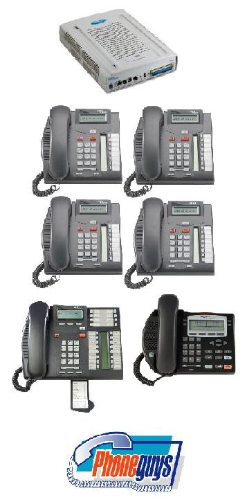 BCM50 VoIP Internet Phone System 1-T7316e 4-T7208 1-i2002 Phones & Voice Mail