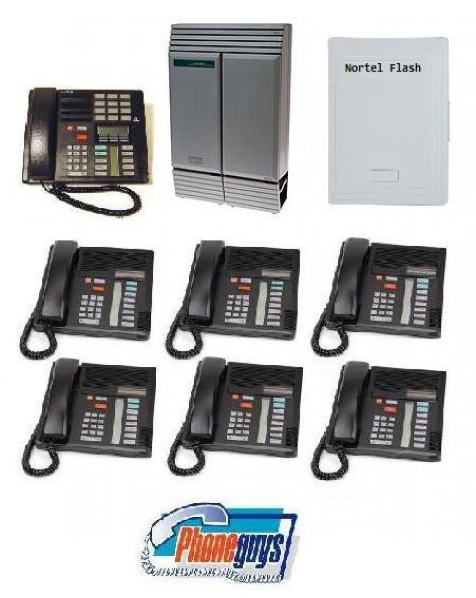 8x24DS with 1-M7310 6-M7208 Speakerphone and Startalk Flash Voice Mail