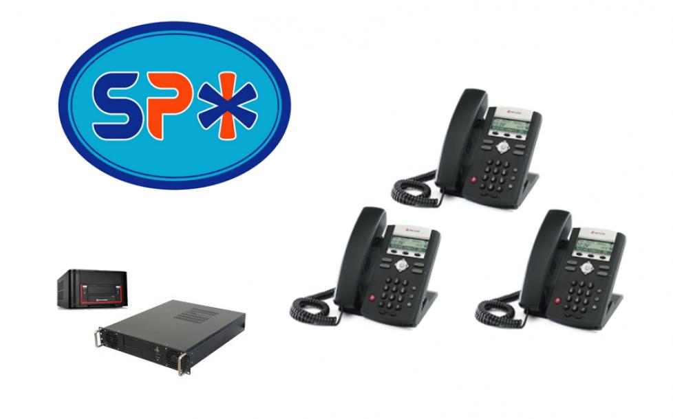 SPX VoIP Phone System w 3 Polycom SIP Telephones