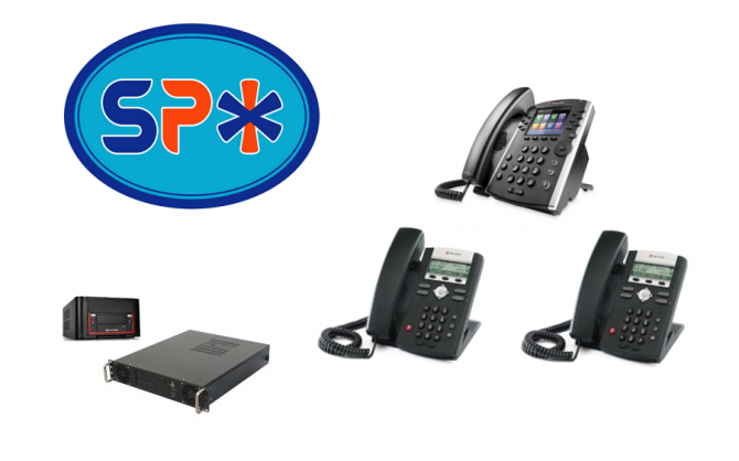 SPX VoIP Phone System w 1 Polycom VVX 400 Executive Phone and 2 Polycom 330 Staff model phones
