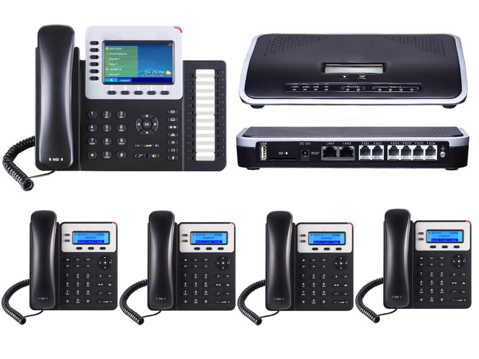 IP PBX with 5 Phones